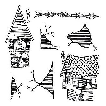 Dyan Reaveley's Dylusions Cling Stamp Collection This Old House Dyr 38306