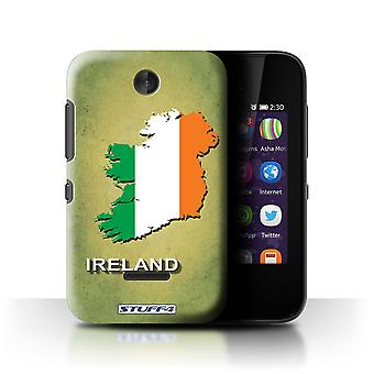 STUFF4 Case/Cover for Nokia Asha 230/Ireland/Irish/Flag Nations