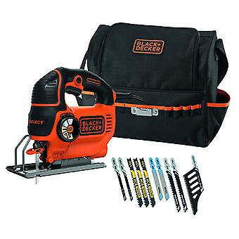 Black and Decker Jig Saw 620W in large tin with 10 saw blades