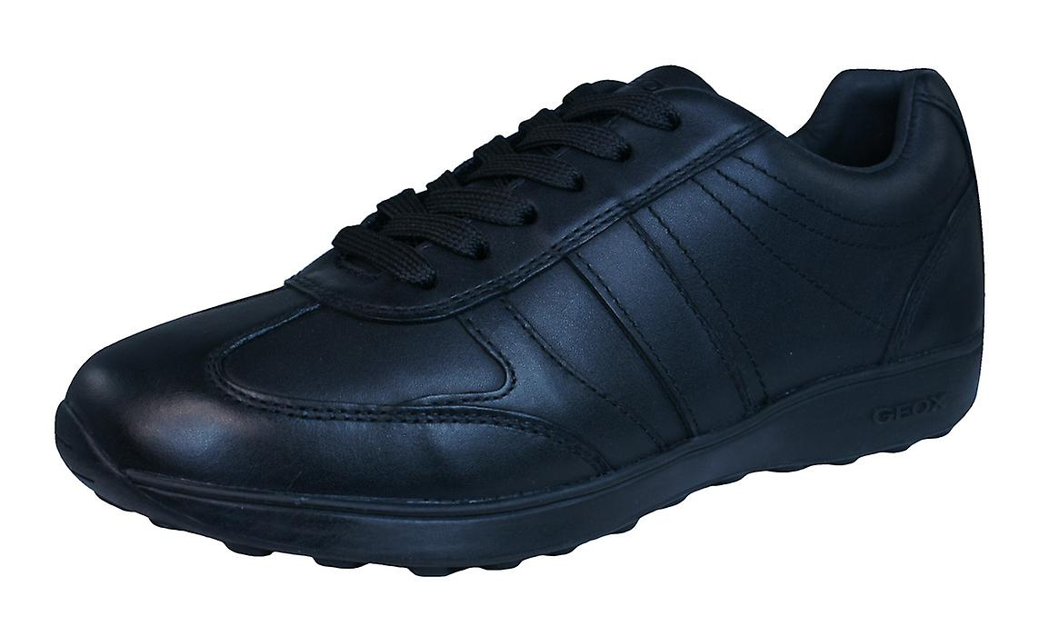 Geox J Xitizen B Shoes Boys Leather Trainers / Shoes B - Black cfc36d