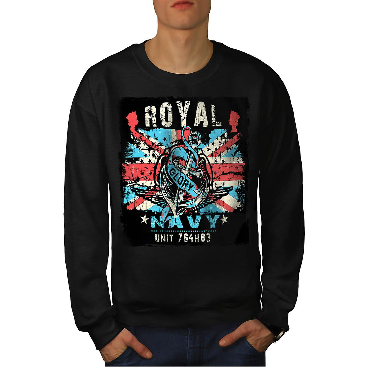 La règle britannique de la Royal Navy Glory UK hommes Black Sweatshirt | Wellcoda