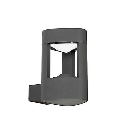 Endon EL-40074 Outdoor Aluminium LED Black Finish Wall Light