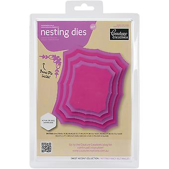 Couture Creations Nesting Dies-Fancy Rectangles CO723957