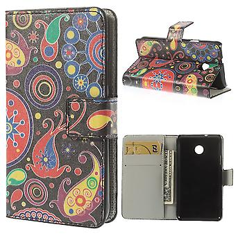 Cover cell phone case (flip cross) for mobile Huawei Ascend Y330 of abstract color Flash