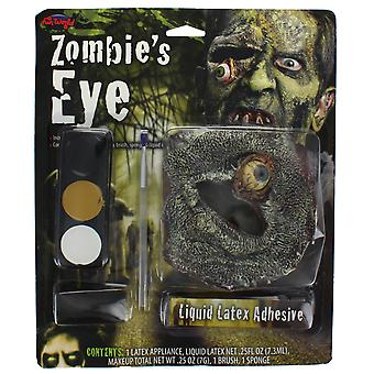 Zombie Eyes Halloween Fancy Dress Hanging Eyeball Make-up Set