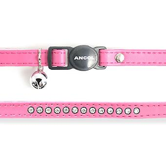 Safety Buckle Cat Collar Deluxe Jewel Cerise (Pack of 3)