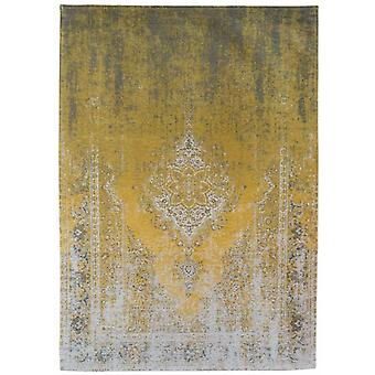 Distressed Yuzu Cream Medallion Flatweave Rug 170 x 240 - Louis de Poortere