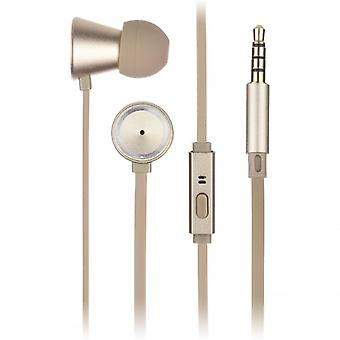 KITSOUND Headphone Metallics Gold Earbud Mic