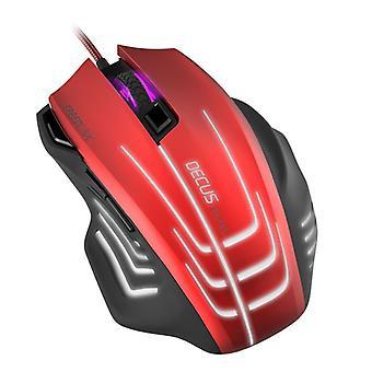 SpeedLink DECUS RESPECIALIZAS Gaming Mouse - rojo/negro (SL-680005-BKRD)
