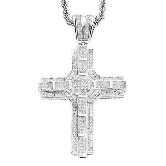Iced out bling MICRO PAVE pendants - SPACE cross