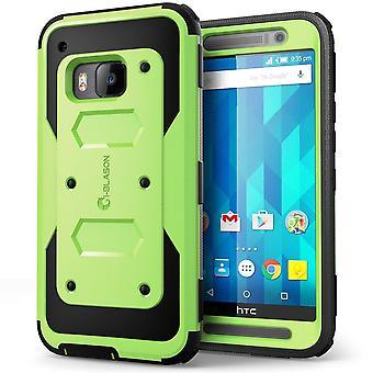 Jag-Blason HTC One M9 fall - Armorbox Full kropp skyddande fodral - grön