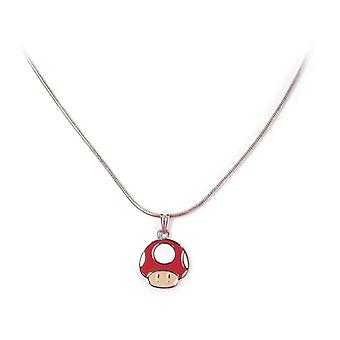 Super Mario Brothers Mushroom Pendant Necklace - Multi-Colour (JE180219NTN)