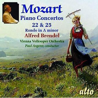 Mozart/Brendel/Vienna Volksoper Orch - Piano Concertos 22 & 25/Rondo No. 3 [CD] USA import