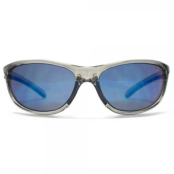 Animal Pipe Oval Wrap Sunglasses In Crystal Grey