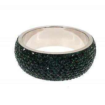 W.A.T Chunky Crystal Bangle Dark Green Crystals