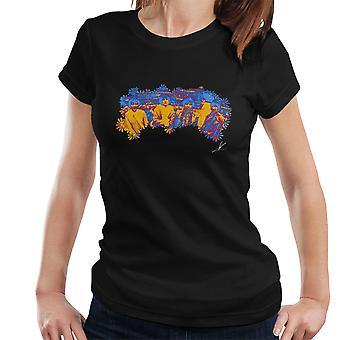 Pink Floyd Ruskin Park Shoot Floral Blue 1967 Women's T-Shirt