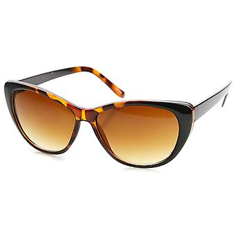 Womens Fashion Two-Tone Color Frame Cateye Sunglasses