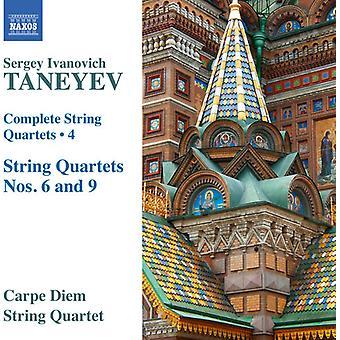 Taneyev / Carpe Diem Strykekvartett - Taneyev / Carpe Diem Strykekvartett: komplett strykekvartetter 4 [DVD] USA import
