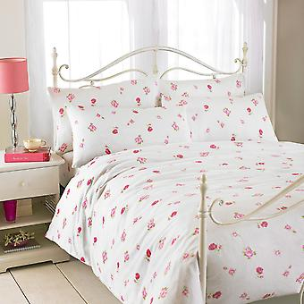 Riva Home Rose Printed Flannelette Flat Sheet