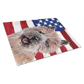 アメリカ国旗 USA ガラス切断ボード大きさでノーリッチ ・ テリア