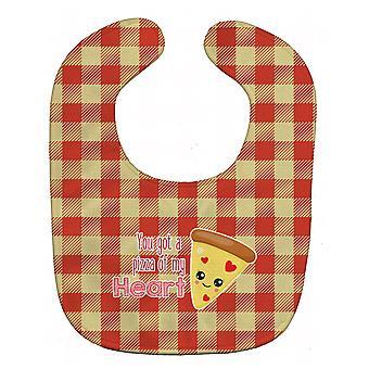 Carolines Treasures  BB9128BIB You got a Pizza of my Heart Baby Bib