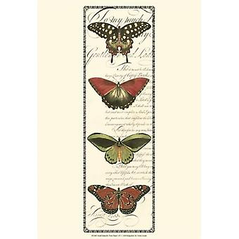 Small Butterfly Prose Panel I Poster Print by Vision studio (13 x 19)