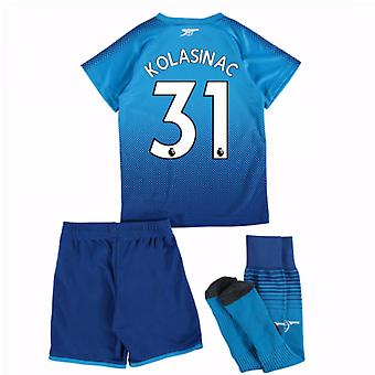 2017-18 Arsenal Away Mini Kit (Kolasinac 31)