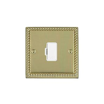 Hamilton Litestat Cheriton Georgian Polished Brass 1g 13A Fuse Only WH/WH