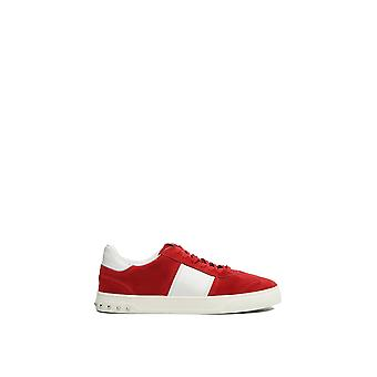 Valentino Garavani men NY2S0A08LARR81 red suede of sneakers