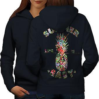 Easy Life Pineapple Women NavyHoodie Back | Wellcoda