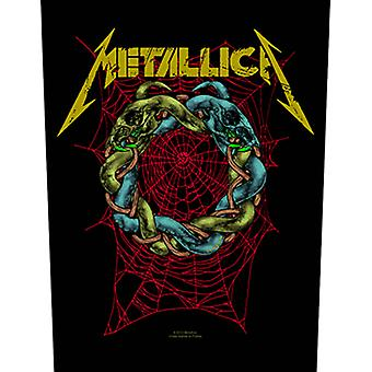 Metallica Back Patch Tangled Web Official New Black  Woven (36cm x 29cm)