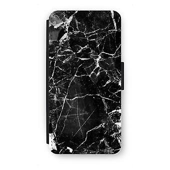 Samsung Galaxy S7 Edge Flip Case - Black Marble 2