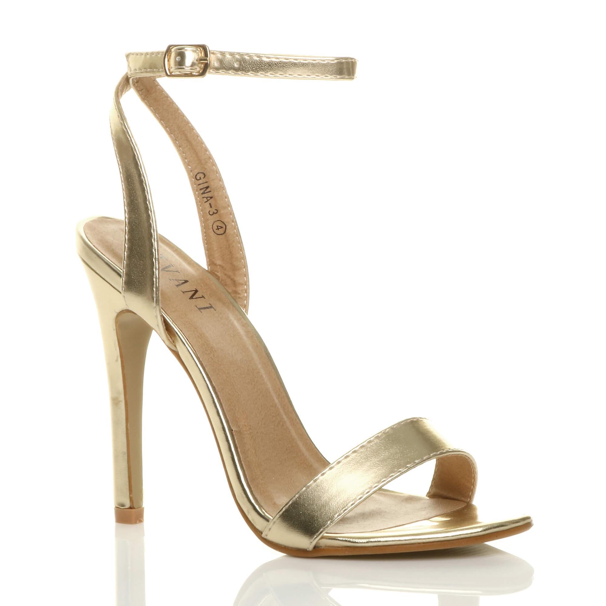 Ajvani womens tacco piattaforma cinturino a malapena là strappy sandali scarpe