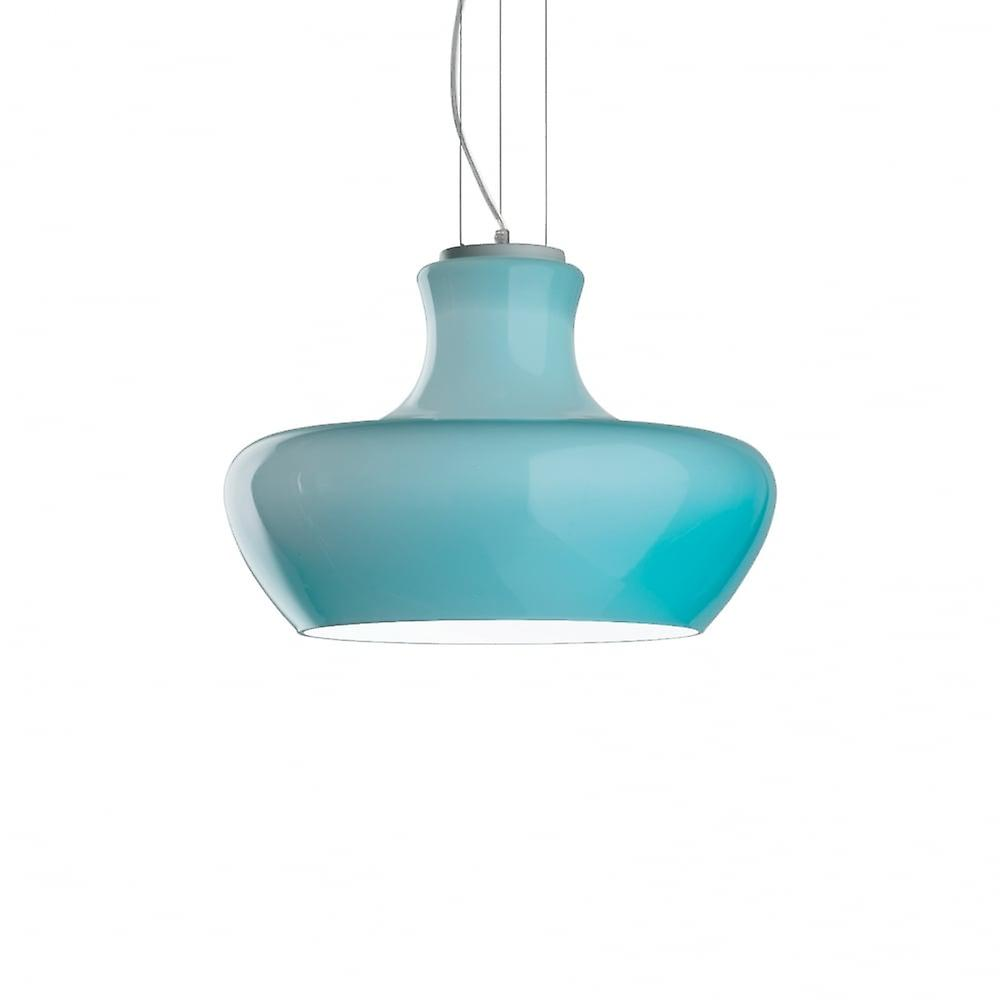 Ideal Lux Aladino 45cm Turquoise Modern Shape Ceiling Pendant Light