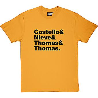 Elvis Costello & The Attractions Line-Up Men's T-Shirt