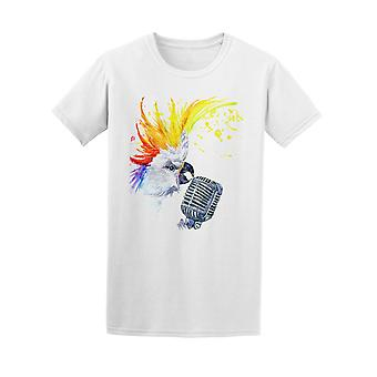 Rocking Parrot Brush Style Tee Men's -Image by Shutterstock
