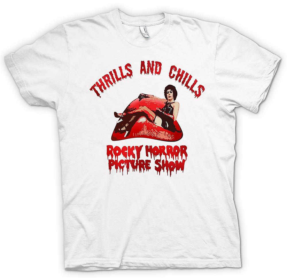 Womens T-shirt - Thrills Chills Rocky Horror Picture