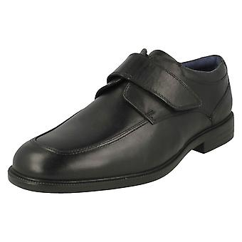 Mens Padders Formal Hook & Loop Fastening Shoes Brent - Black Leather - UK Size 8.5G - EU Size 43 - US Size 9.5
