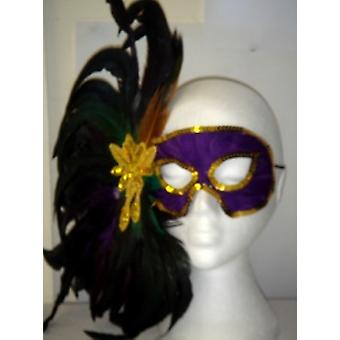 Purple Eyemask With Feathers (1)