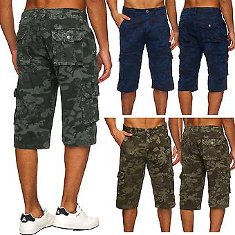 Men's camouflage 3/4 cargo shorts army trousers camouflage Capri pants of bermudas