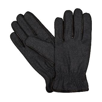 Bugatti menns hansker hansker antikke sauer nappa Wollfillz Grau 6463