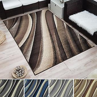 Moderner Design Kurzflor Teppich »Wave« Wellen-Optik