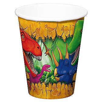 Zlewki Kubek Kubek dinozaur Dino party urodziny 250 ml 6szt