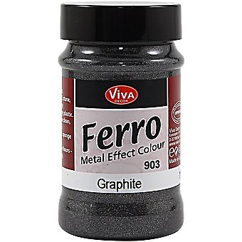 Ferro Metal Effect Textured Paint 3oz-Graphite