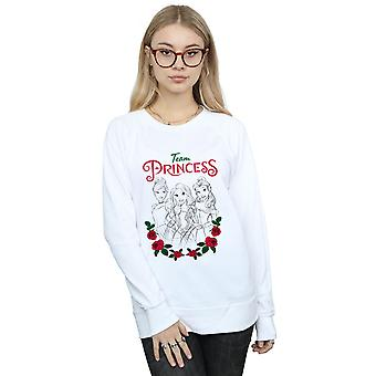 Disney Princess Women's Flower Team Sweatshirt