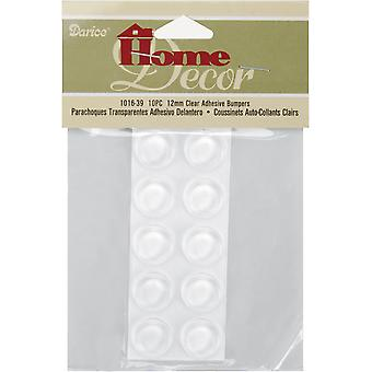 Adhesive Bumpers Round 12mmX4mm 10/Pkg-Clear
