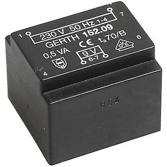 PCB mount transformer 1 x 230 V 1 x 24 V AC 0.50 VA 20 mA PT202401 Gerth
