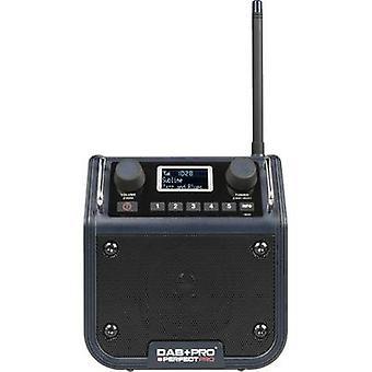 PerfectPro DAB + PRO DAB + Baustellenradio AUX, DAB +, FM Spatwaterdichte, schokbestendig, stofdicht blauwe schaduw