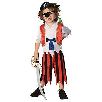 Caribbean Pirate Cutthroat Captain Treasure Hunter Book Week Boys Costume T