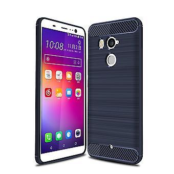 HTC U12 plus omslag silikon blå kol ser fallet TPU mobila täcker av stötfångaren 211794